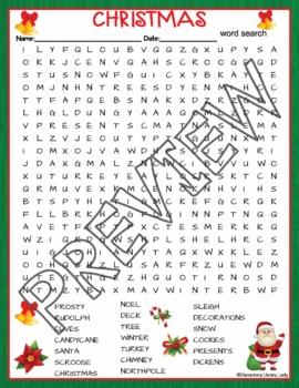 Christmas Crossword and Word Search Find Activities