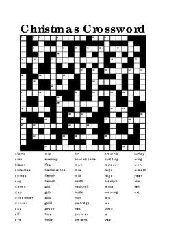Christmas Crossword (difficult)