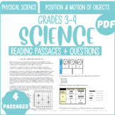Physical Science Reading Passages | Position & Motion of Objects | Grade 3-4