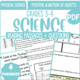 Physical Science Reading Comprehension {Set2/3} Position & Motion of Objects PDF