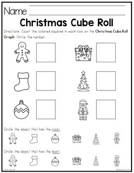 Christmas Cube Roll Math Game