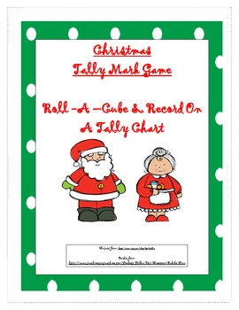 Christmas Cube Tally Mark Game