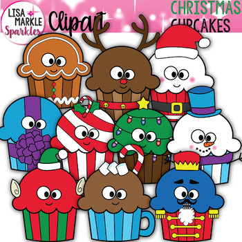 Christmas Cupcake Clipart