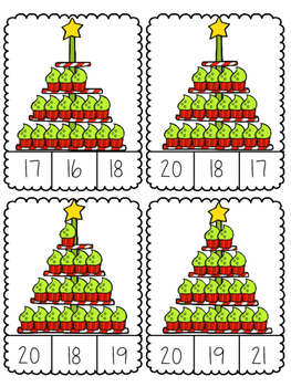 Christmas Cupcake Count and Clip Cards