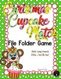 Christmas Cupcake Match Long Vowel File Folder Game First Grade