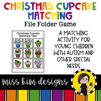Christmas Cupcake Matching Folder Game for Early Childhood Special Education