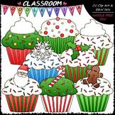 Christmas Cupcakes Clip Art - Christmas Clip Art