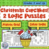 Christmas Cupcakes Logic Puzzles,  Brain Teasers, GT Fun,  Early Finishers