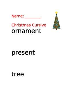 Christmas Cursive