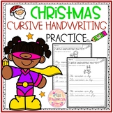 Christmas Cursive Handwriting Practice