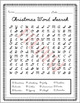 Christmas Cursive Handwriting WORD SEARCH activity - cursive writing - winter