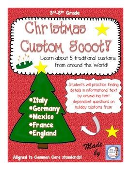 Christmas Custom Around the World Scoot Game (intermediate level)
