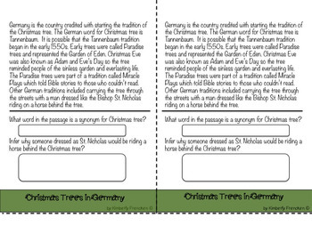 Christmas Customs Flip book with non-fiction passages