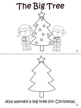 Christmas Cut, Color, & Read Easy Reader Book