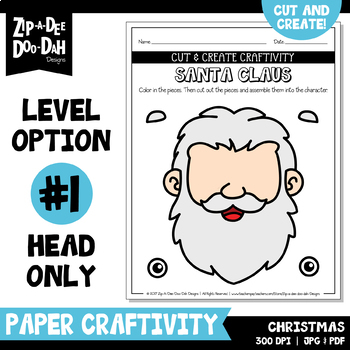 Christmas Cut & Create Writing Craftivity {Zip-A-Dee-Doo-Dah Designs}