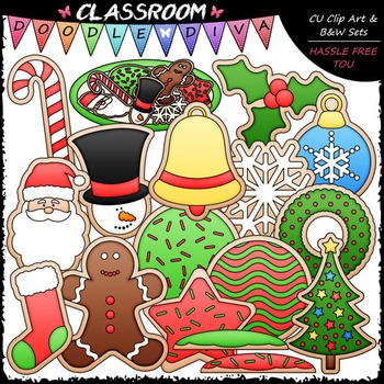 Christmas Cut-Out Cookies Clip Art - Christmas Cookies