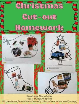 Christmas Cut-Out Homework