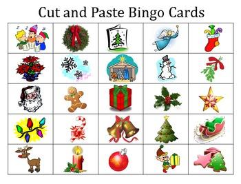 Christmas Cut & Paste Bingo