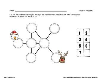 CHRISTMAS CUT & PASTE LOGIC PUZZLES