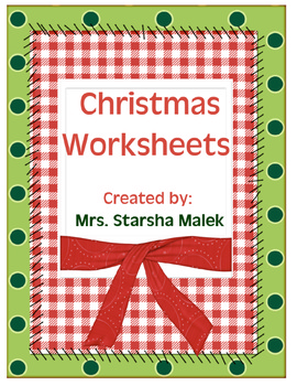 Christmas Cut and Paste Activities by Starsha Malek  TpT
