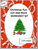 Free Christmas Cut and Paste, Christmas Fine Motor Activities Special Education