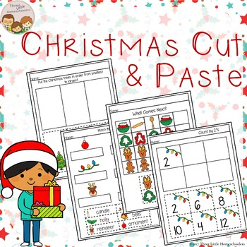 Christmas Cut and Paste Math & Literacy Center Activities - No Prep