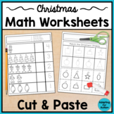 Christmas Cut and Paste Math Worksheets - Special Education and Autism Resource