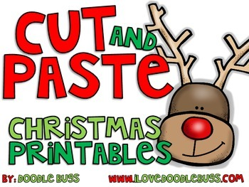 Christmas Cut and Paste Printables / Worksheets