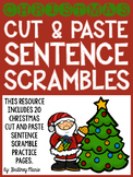 Christmas Cut and Paste Sentence Scrambles