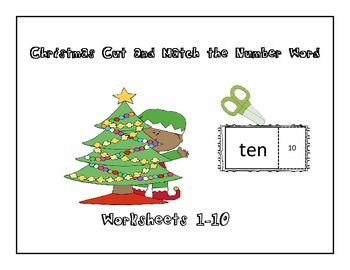 Christmas Cut and Paste the Number Word