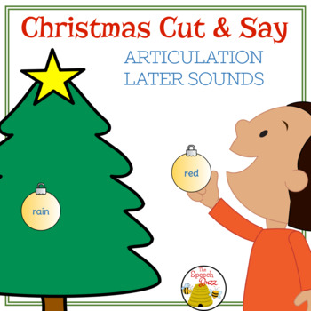 Christmas Cut and Say: Articulation Later Sounds