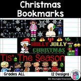Christmas Cut n' Color Bookmarks: Black and White AND Full Color