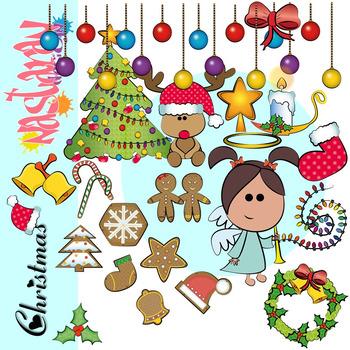 Christmas Cute Stuffs Clipart