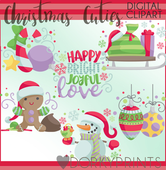 Christmas Cuties Clipart