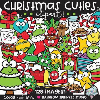 Christmas Cuties Clipart MEGA Set {christmas elements clipart}