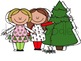 Christmas Cuties Digital Clip Art Set- Color and Black Line COMBO
