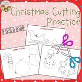 Christmas Cutting Practice Scissor Skills FREEBIE