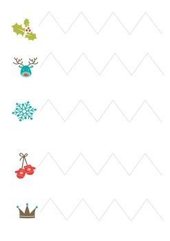 Christmas Cutting Skills Pages