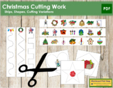 Christmas Cutting Strips - Scissor Practice