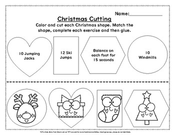 Christmas Cutting and Exercise