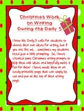 Christmas Daily 5 Fun Writing Prompts printable
