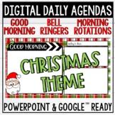 Christmas Daily Agenda   Bell Ringer Templates   Google Slides