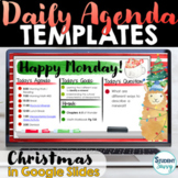 Christmas Daily Agenda Template FREEBIE   Daily Schedule G