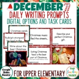 Christmas Daily Writing Prompts PowerPoint, Journal, Works
