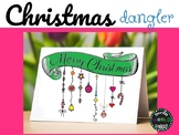 Christmas Dangler Zentangle Doodle Coloring page card Navidad Español Spanish