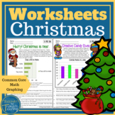 Christmas Math Data and Graph Worksheets Grade 3