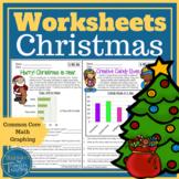 Christmas Math Data and Graph Worksheets Grade 3