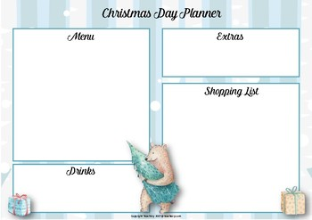 Christmas Day Planners