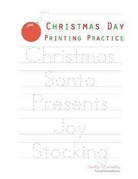 Christmas Day Printing Practice