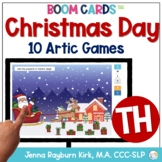 Christmas Day: TH Sound BOOM Cards™️  for Distance Learning Speech Therapy